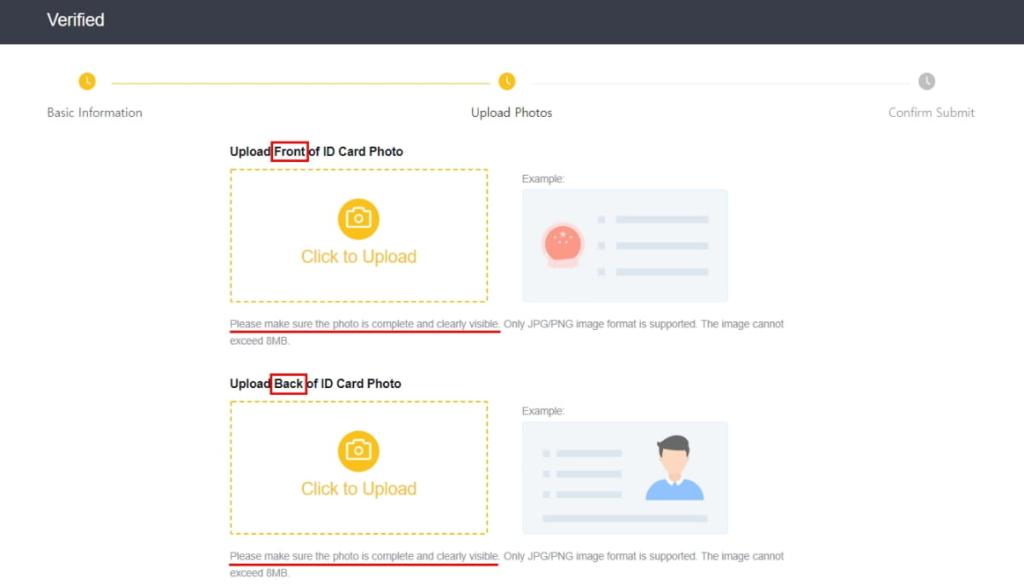 コインニール登録(口座開設)のKYC3