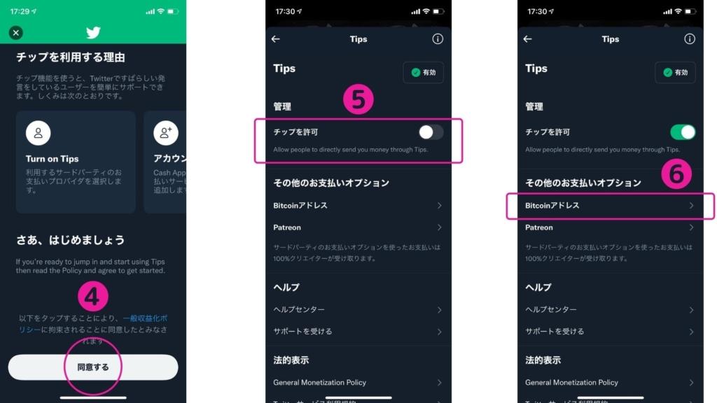Twitterチップ(投げ銭)設定方法 4~6